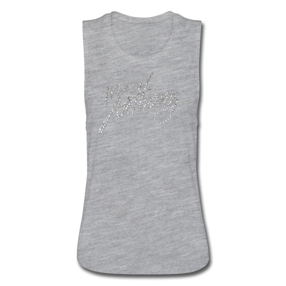 Grey Tank (women) with Bling Jewels